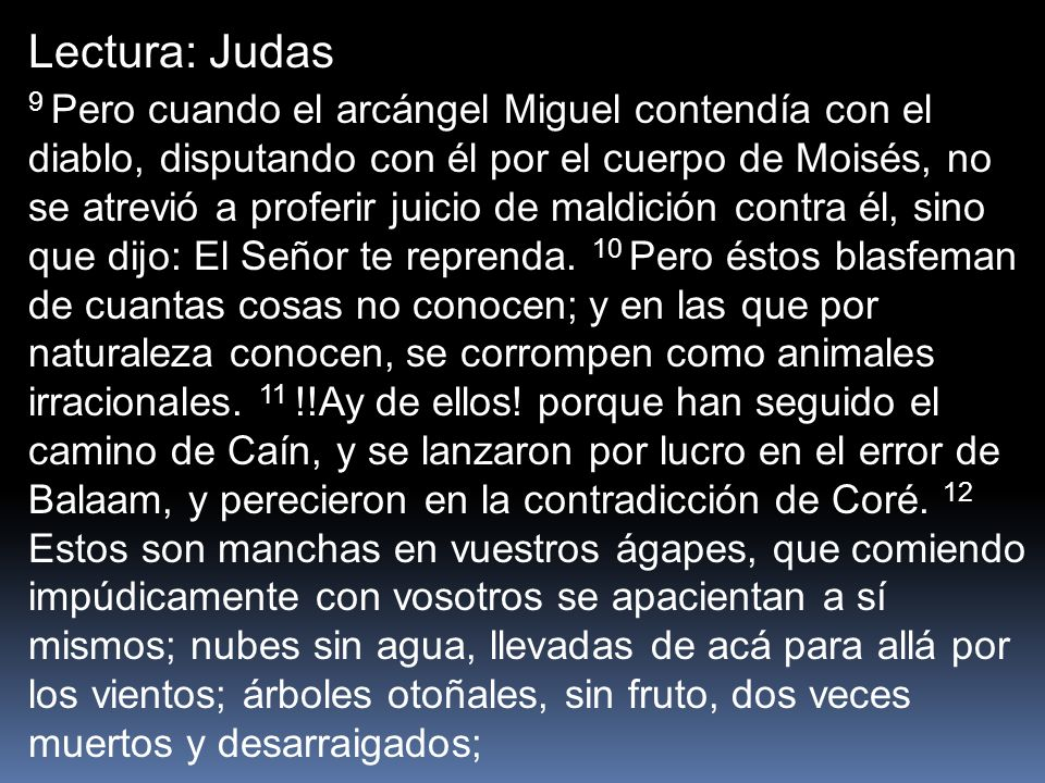 Lectura: Judas