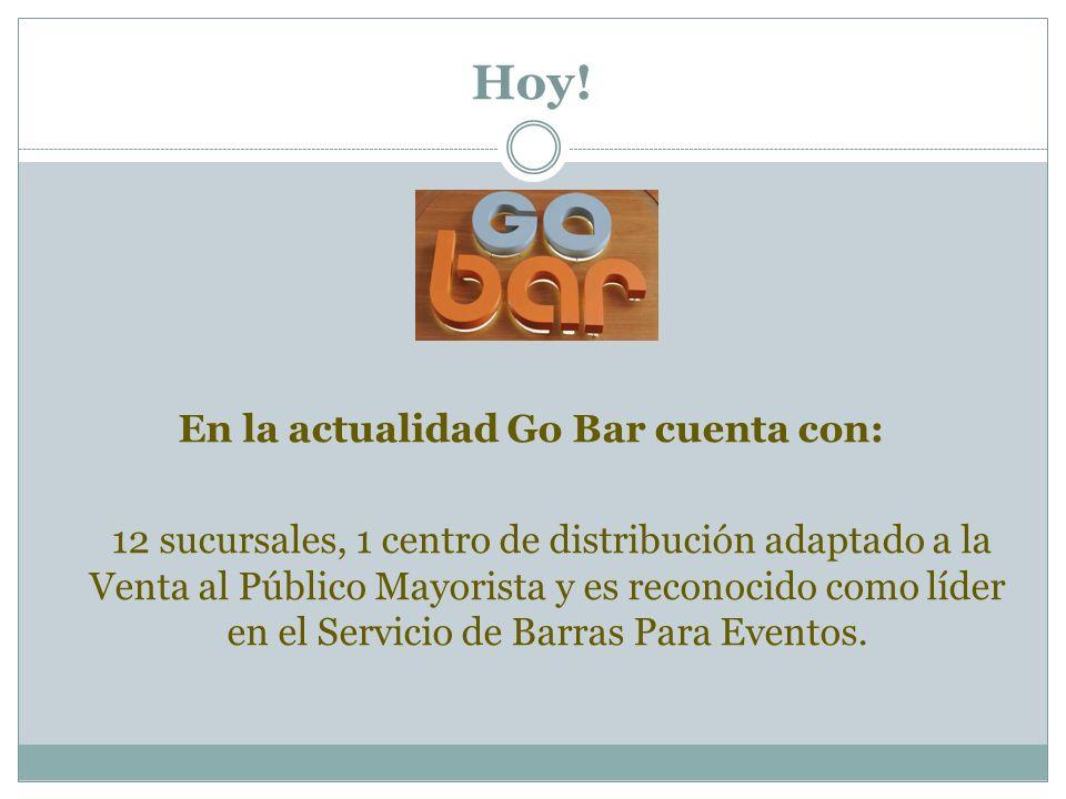 En la actualidad Go Bar cuenta con: