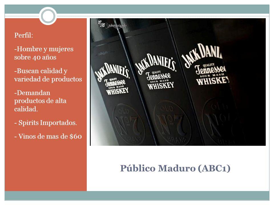 Público Maduro (ABC1) Perfil: -Hombre y mujeres sobre 40 años