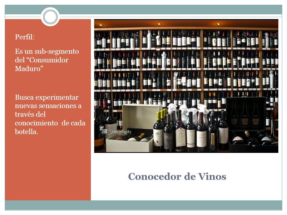 Conocedor de Vinos Perfil: Es un sub-segmento del Consumidor Maduro