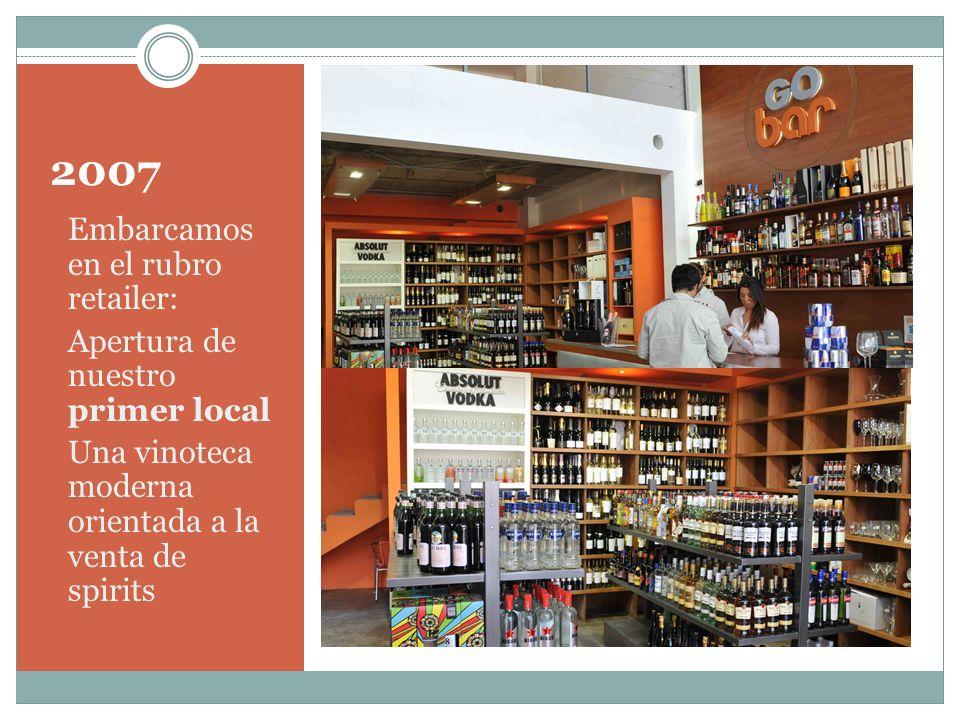 2007 Embarcamos en el rubro retailer: Apertura de nuestro primer local
