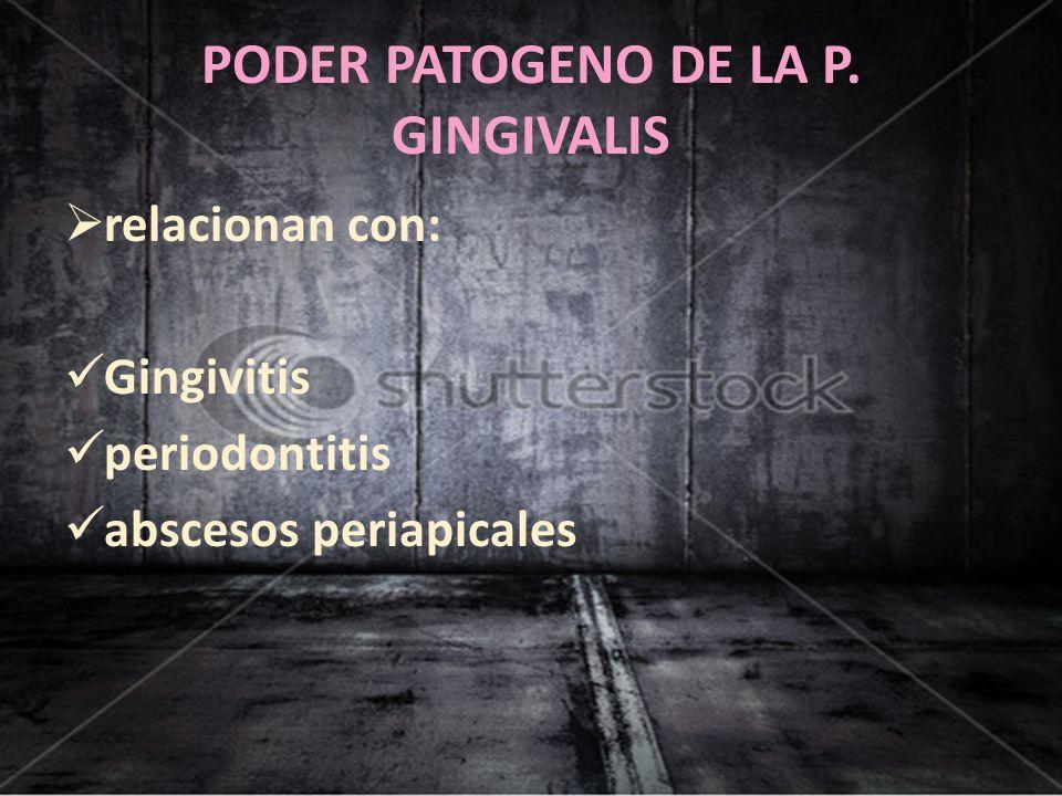 PODER PATOGENO DE LA P. GINGIVALIS