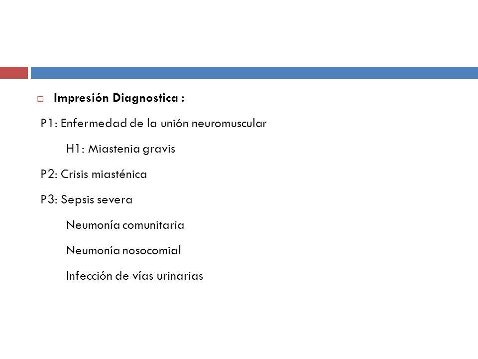 Impresión Diagnostica :