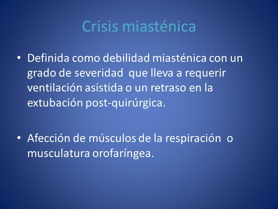Crisis miasténica