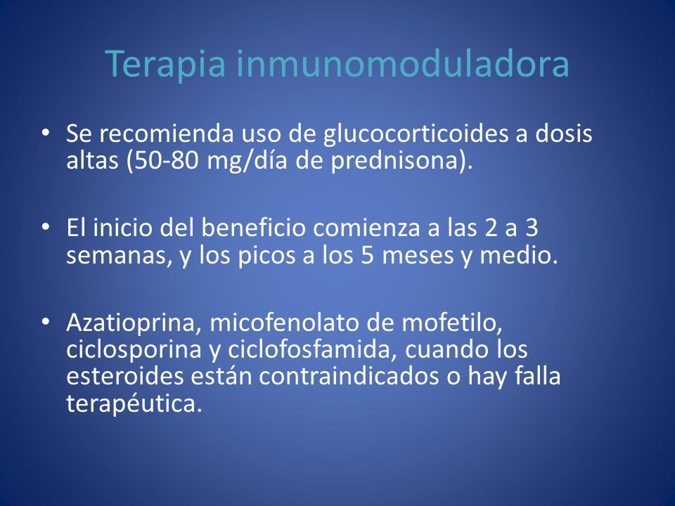 Terapia inmunomoduladora