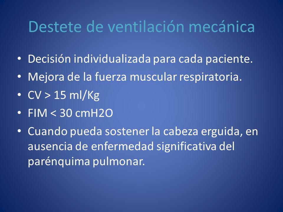 Destete de ventilación mecánica
