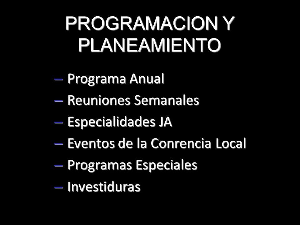 PROGRAMACION Y PLANEAMIENTO