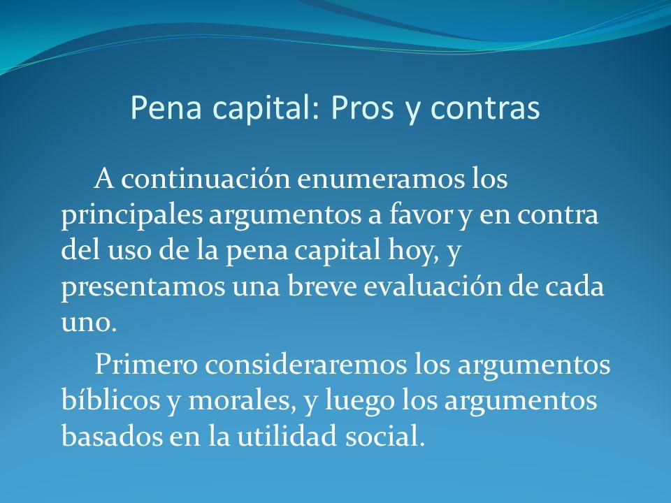 Pena capital: Pros y contras