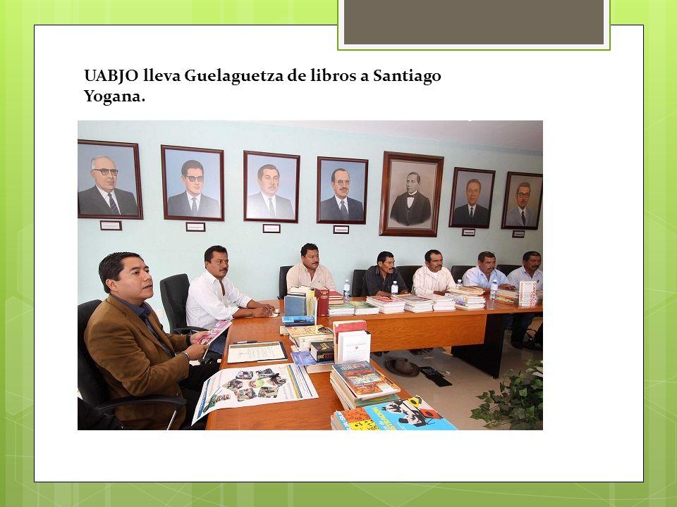 UABJO lleva Guelaguetza de libros a Santiago Yogana.
