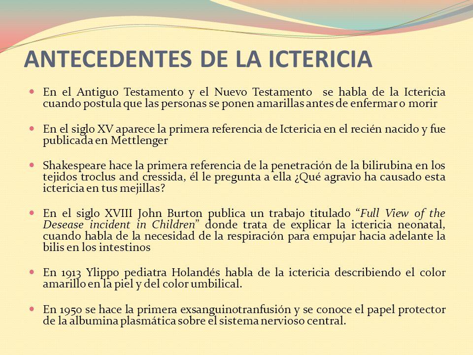 ANTECEDENTES DE LA ICTERICIA