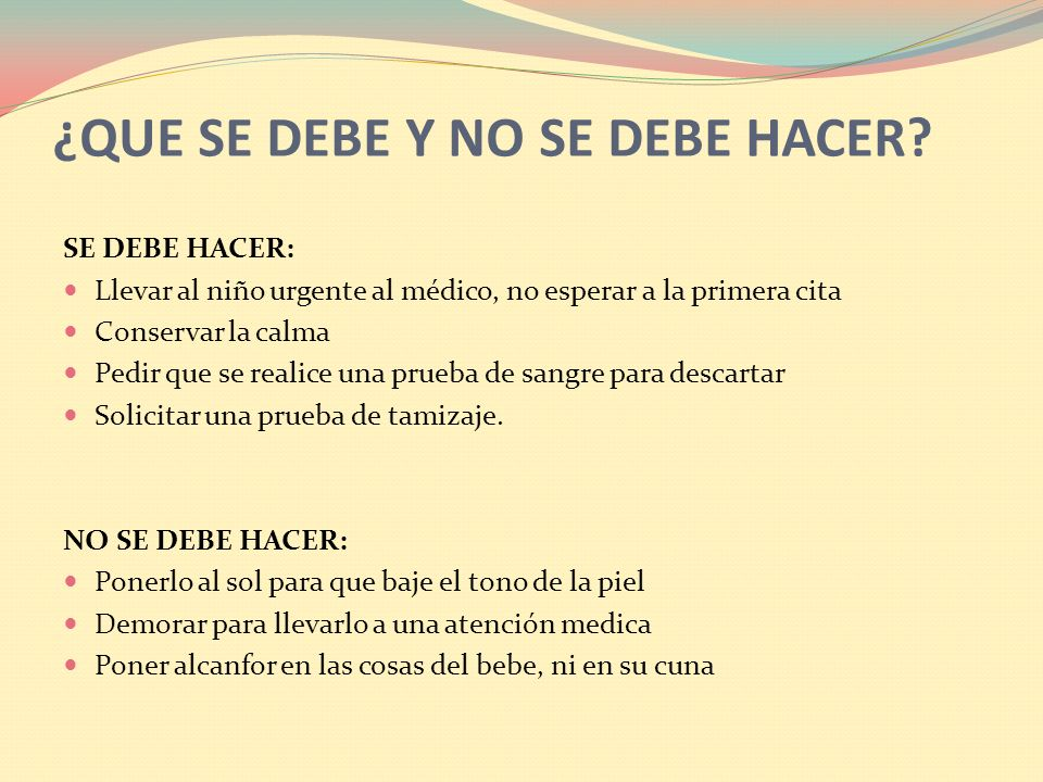 ¿QUE SE DEBE Y NO SE DEBE HACER