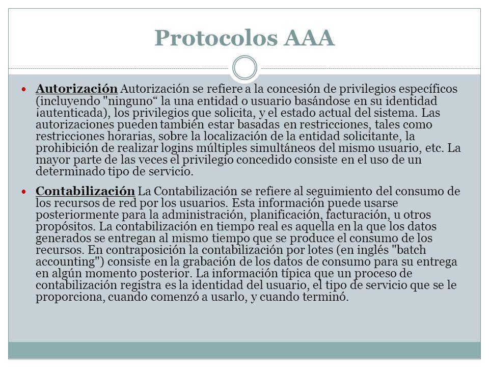 Protocolos AAA