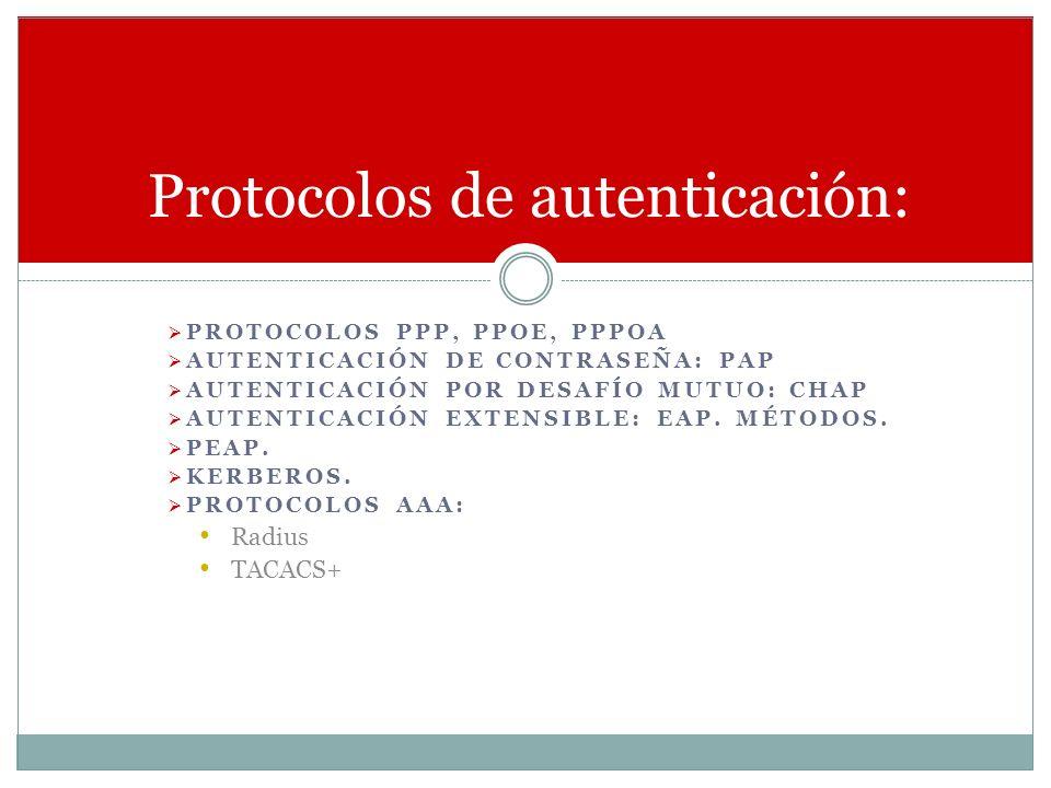 Protocolos de autenticación: