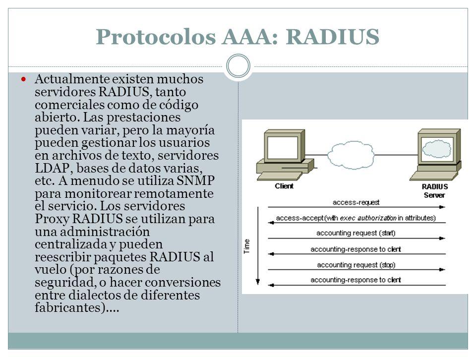 Protocolos AAA: RADIUS