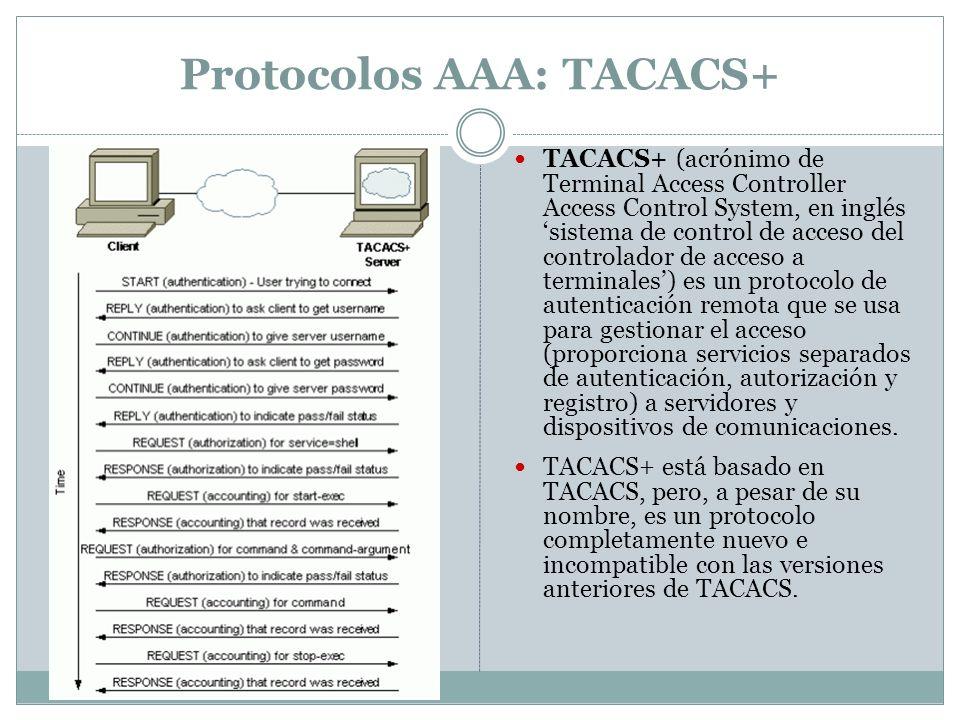 Protocolos AAA: TACACS+