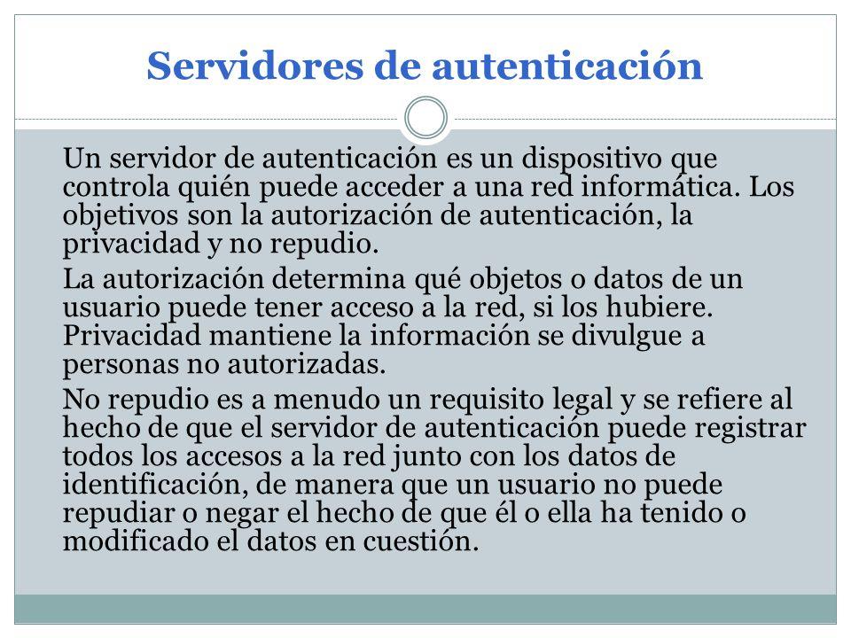 Servidores de autenticación