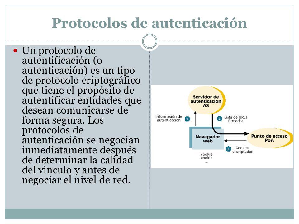 Protocolos de autenticación