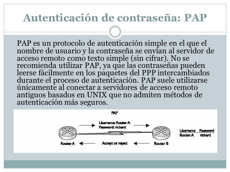 Autenticación de contraseña: PAP