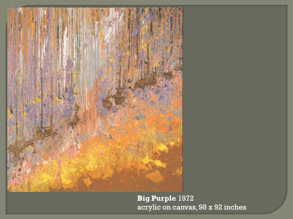 Big Purple 1972 acrylic on canvas, 98 x 92 inches