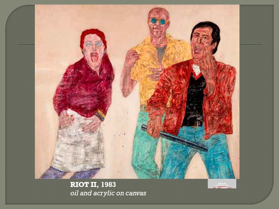 RIOT II, 1983 oil and acrylic on canvas www.no-art.info