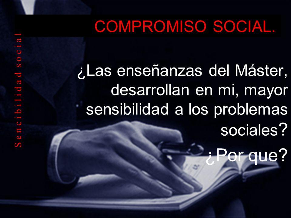 ¿Por que COMPROMISO SOCIAL.