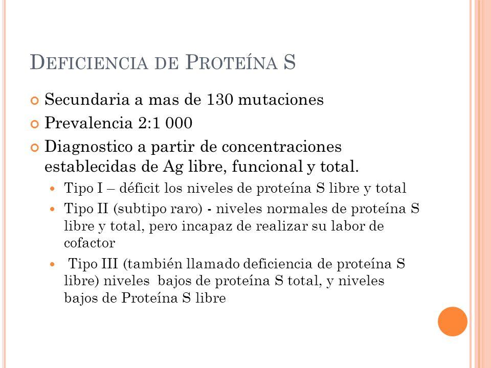 Deficiencia de Proteína S