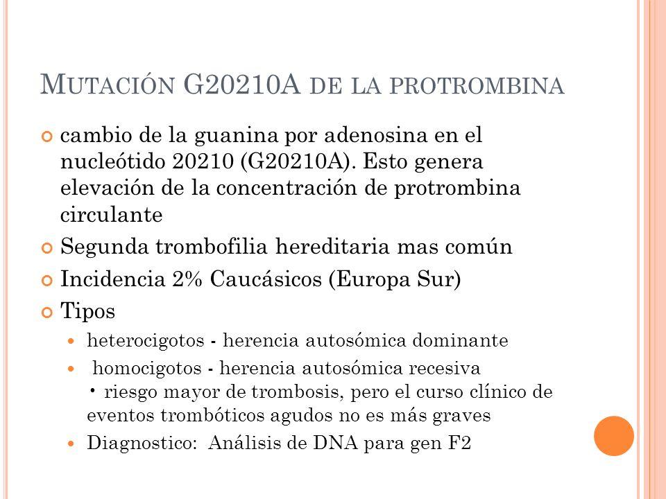 Mutación G20210A de la protrombina