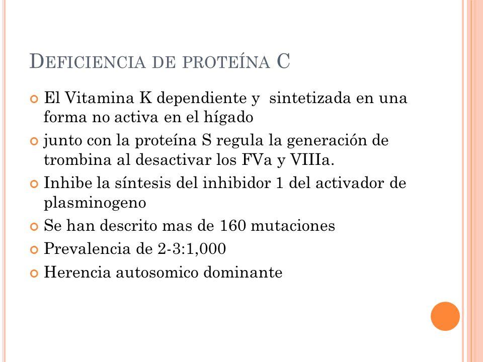 Deficiencia de proteína C