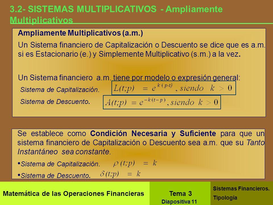 3.2- SISTEMAS MULTIPLICATIVOS - Ampliamente Multiplicativos