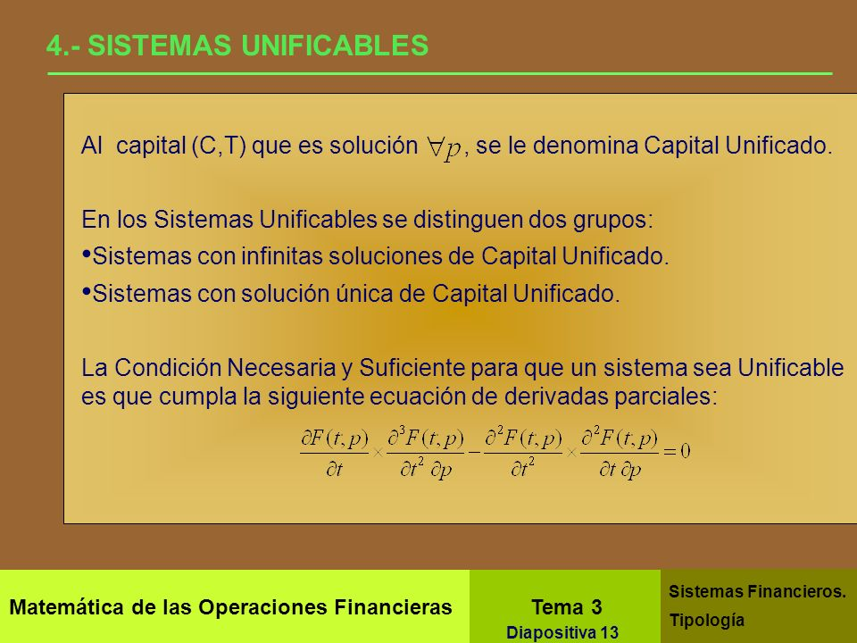 4.- SISTEMAS UNIFICABLES