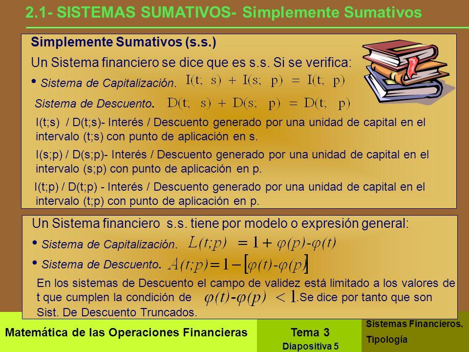 2.1- SISTEMAS SUMATIVOS- Simplemente Sumativos