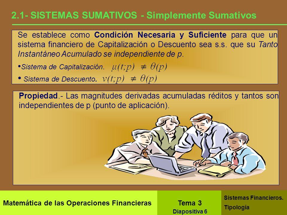 2.1- SISTEMAS SUMATIVOS - Simplemente Sumativos