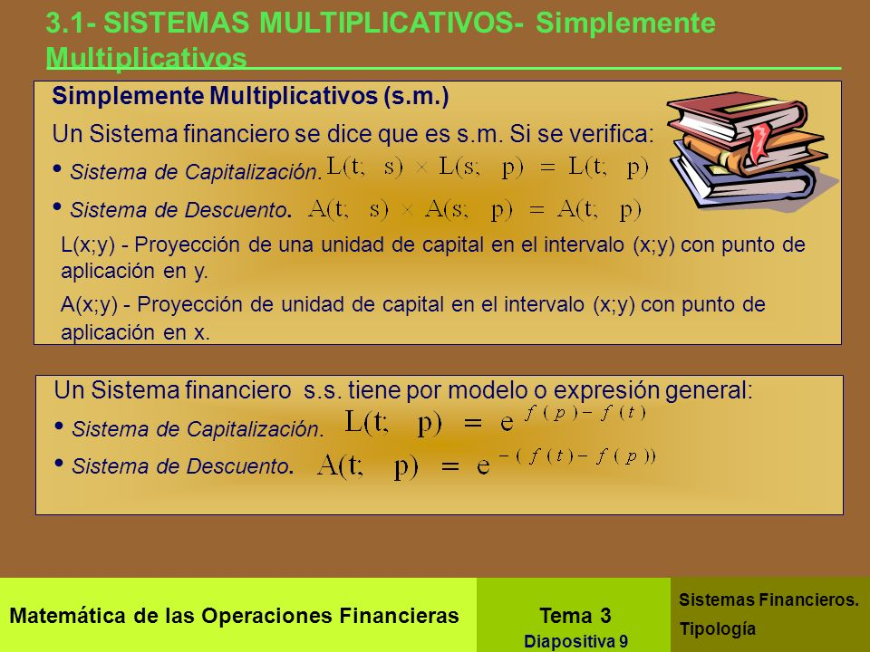 3.1- SISTEMAS MULTIPLICATIVOS- Simplemente Multiplicativos