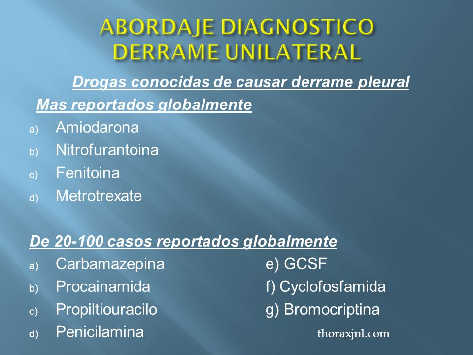 ABORDAJE DIAGNOSTICO DERRAME UNILATERAL