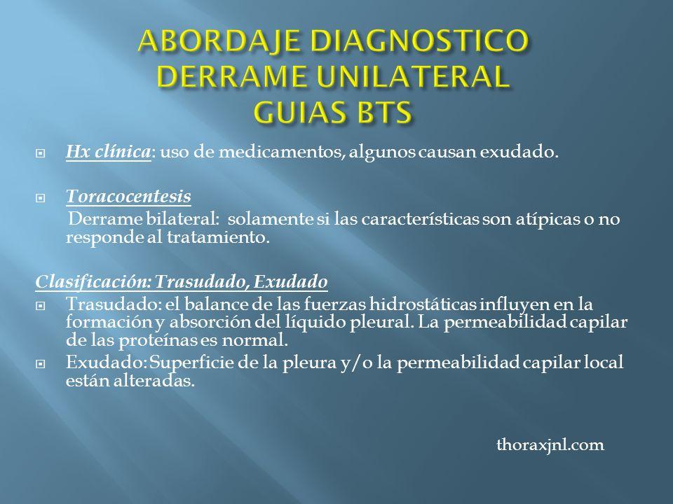 ABORDAJE DIAGNOSTICO DERRAME UNILATERAL GUIAS BTS