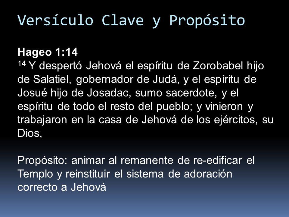 Versículo Clave y Propósito