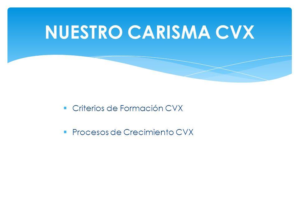 NUESTRO CARISMA CVX Criterios de Formación CVX
