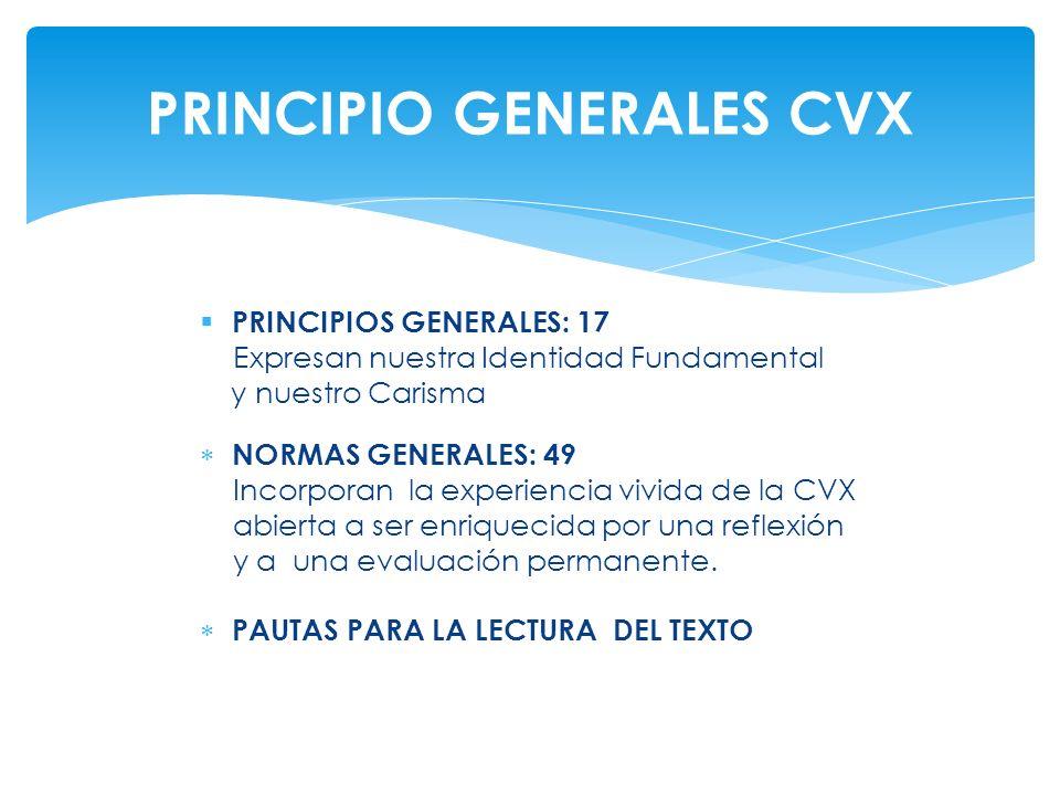 PRINCIPIO GENERALES CVX