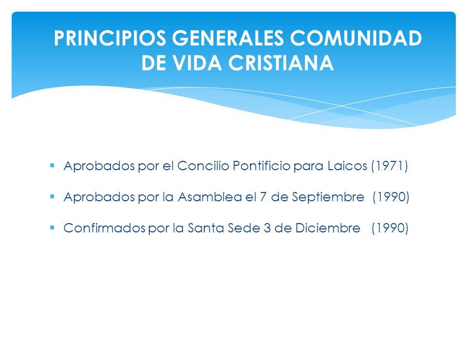PRINCIPIOS GENERALES COMUNIDAD DE VIDA CRISTIANA