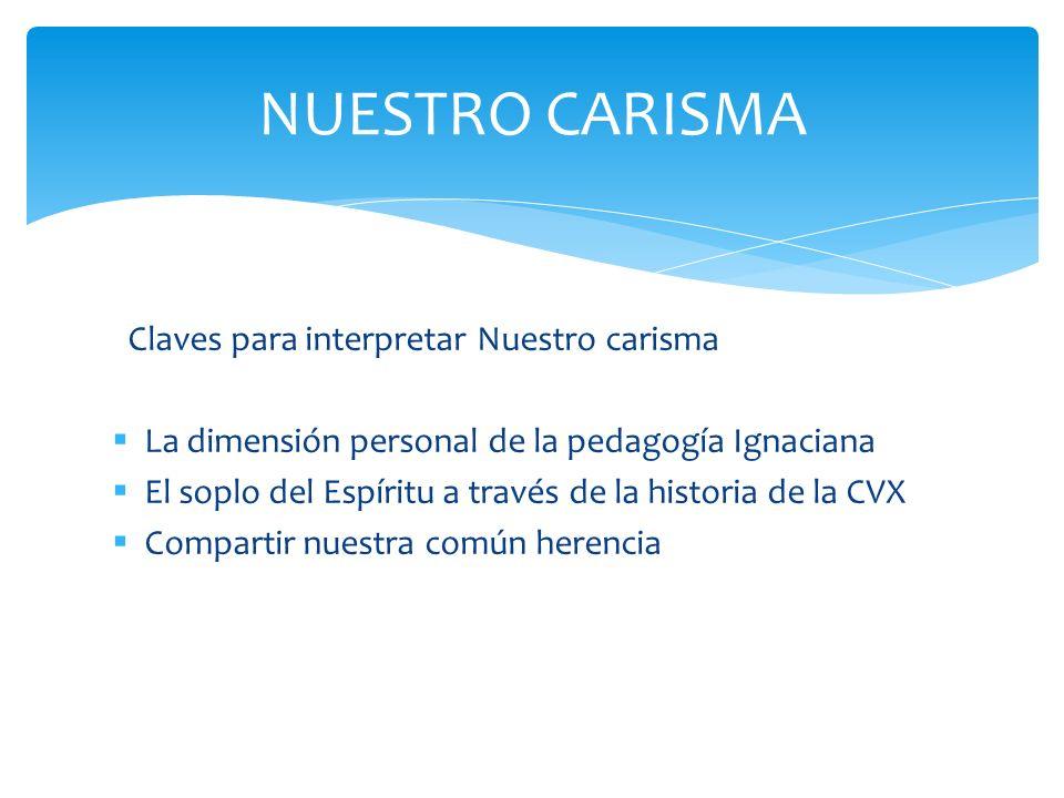 NUESTRO CARISMA Claves para interpretar Nuestro carisma