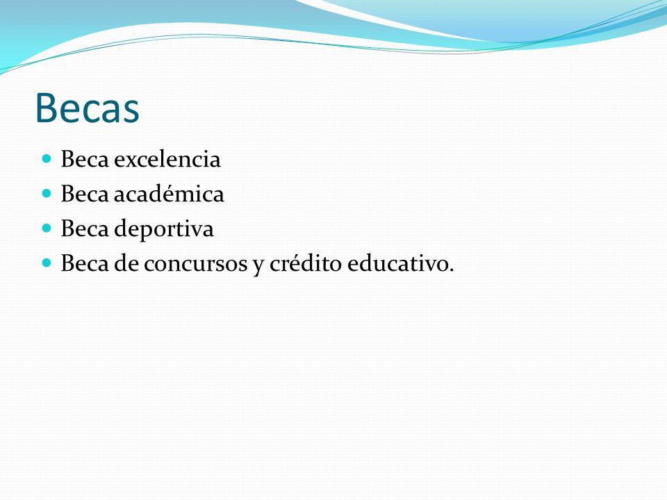 Becas Beca excelencia Beca académica Beca deportiva