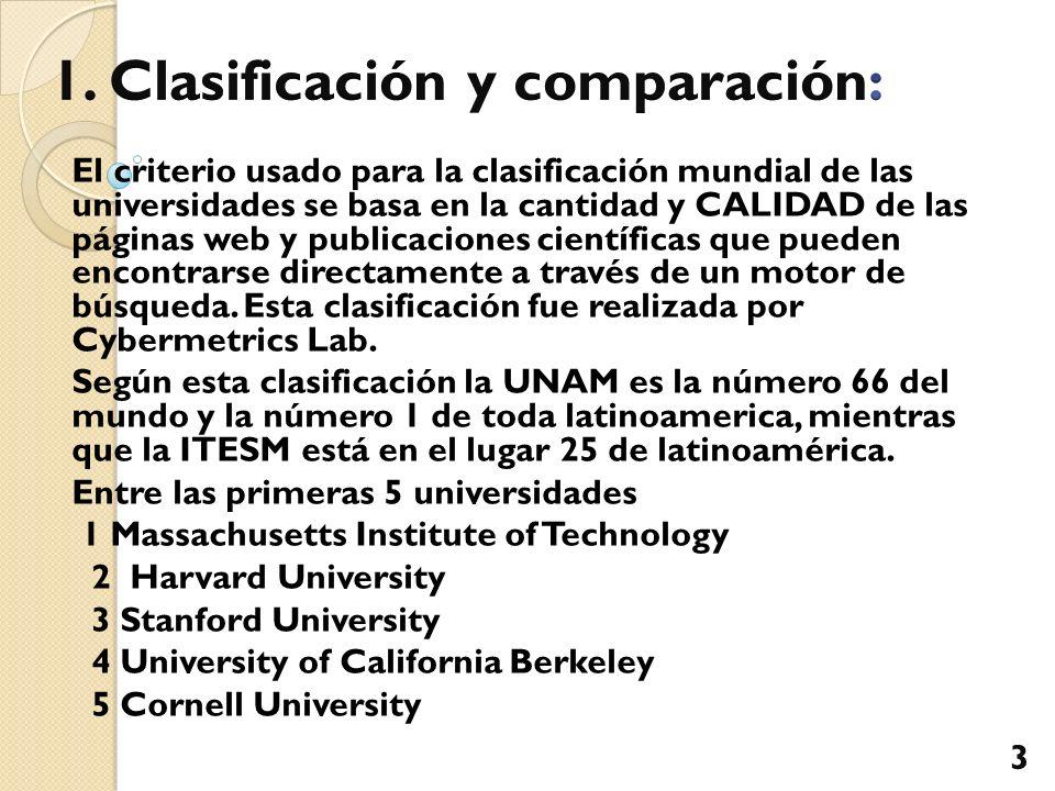 1. Clasificación y comparación: