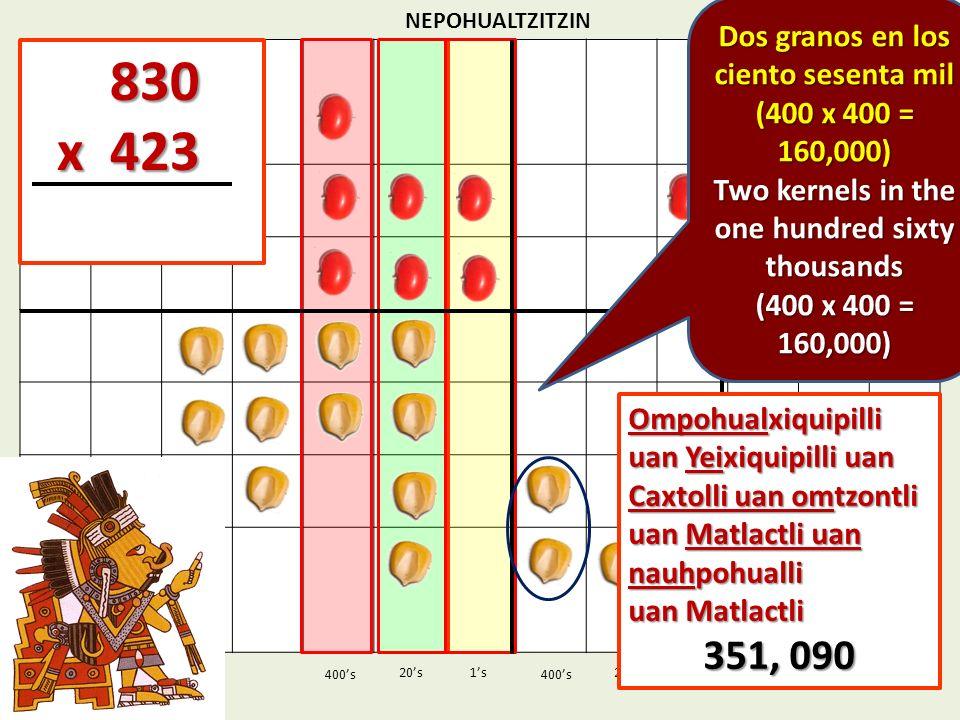 830 x 423 351, 090 Dos granos en los ciento sesenta mil