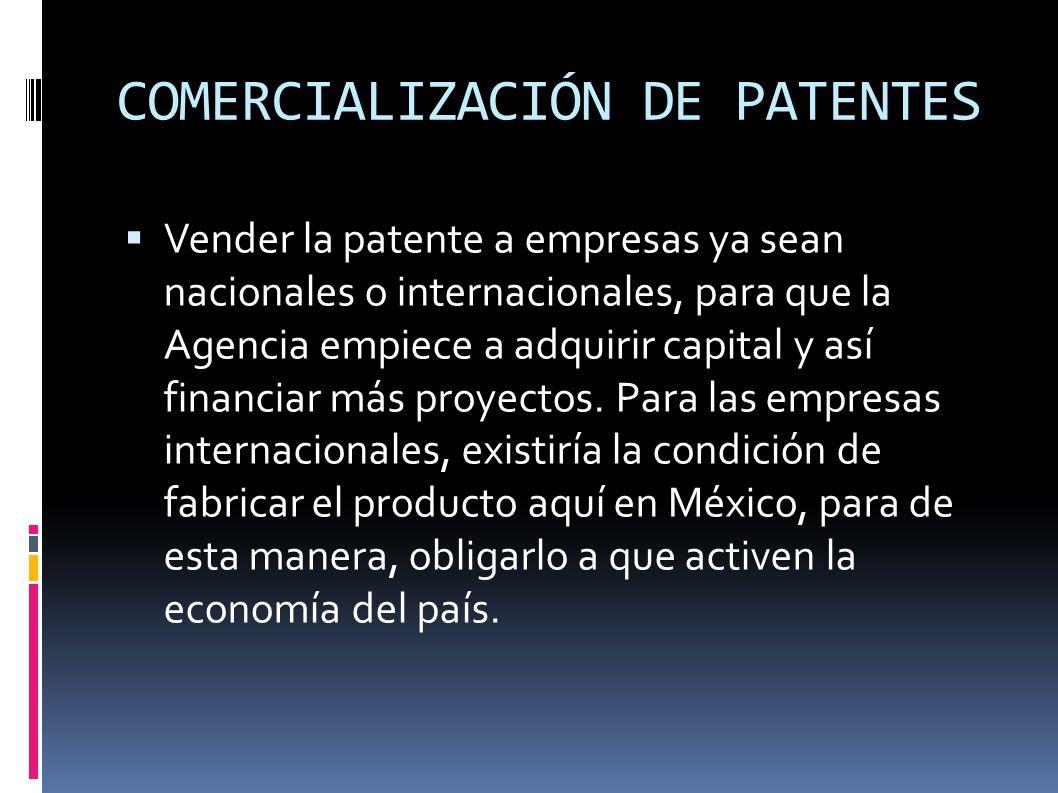 COMERCIALIZACIÓN DE PATENTES