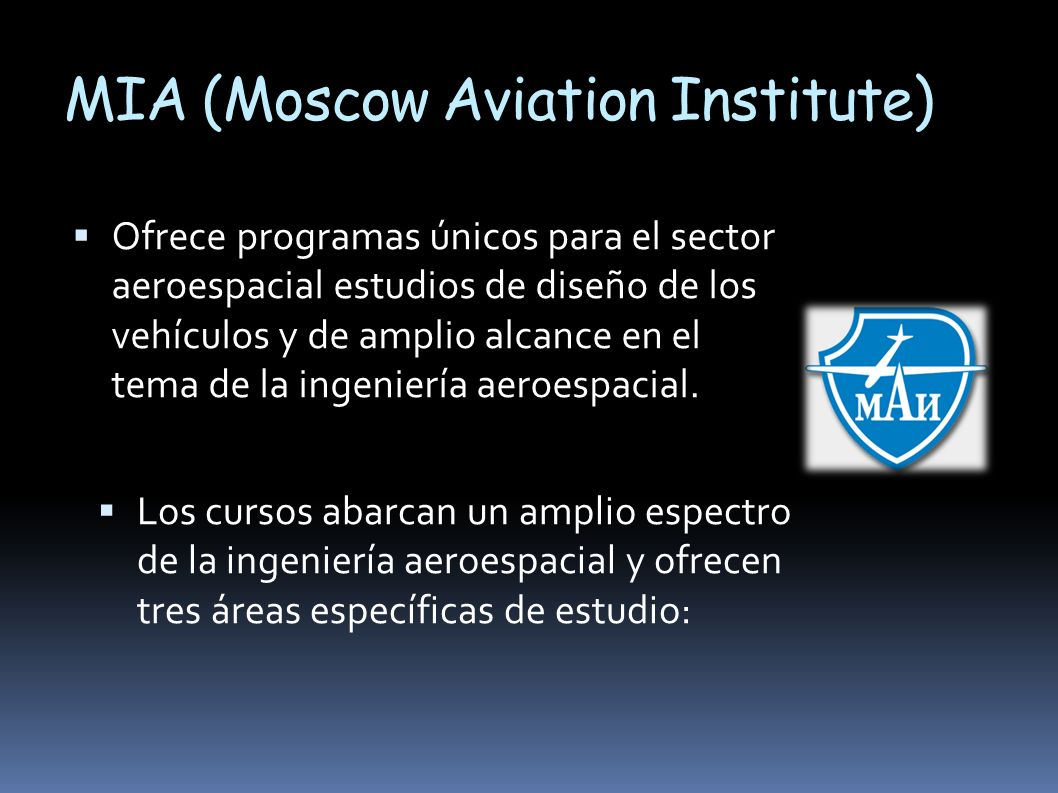 MIA (Moscow Aviation Institute)