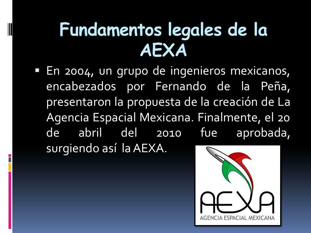 Fundamentos legales de la AEXA