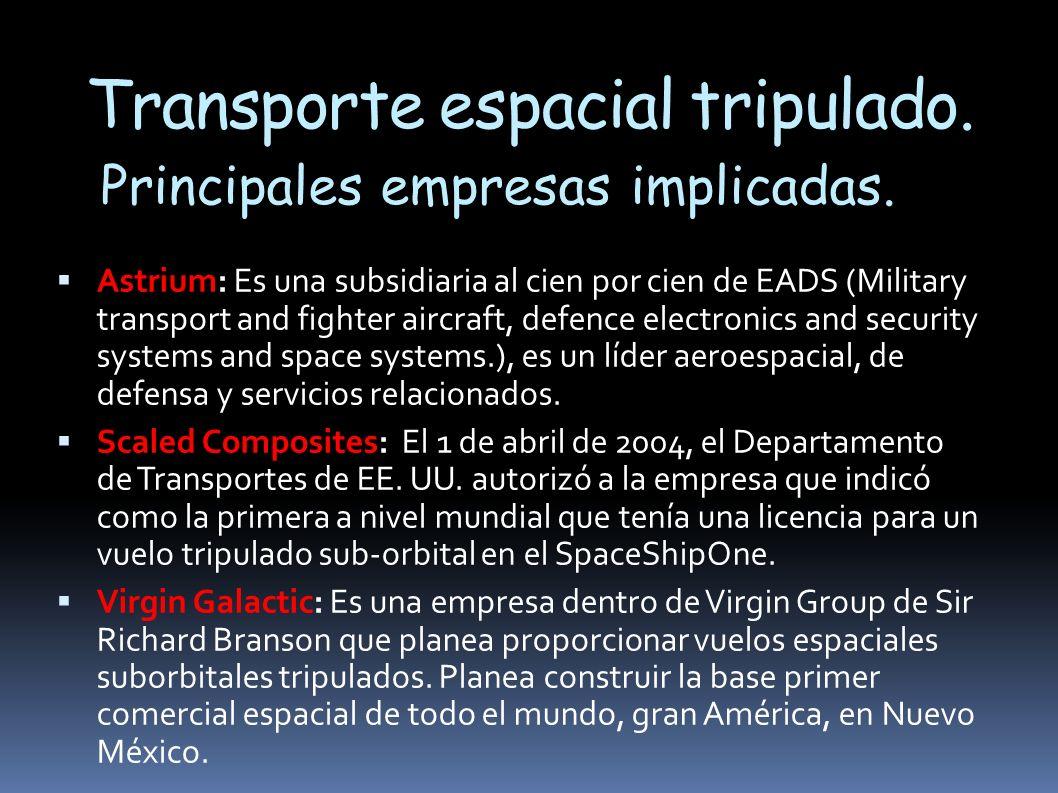 Transporte espacial tripulado.