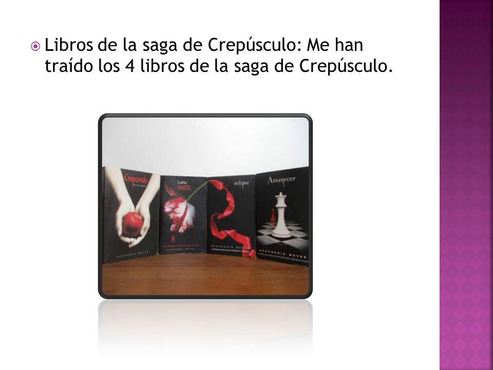 Libros de la saga de Crepúsculo: Me han traído los 4 libros de la saga de Crepúsculo.