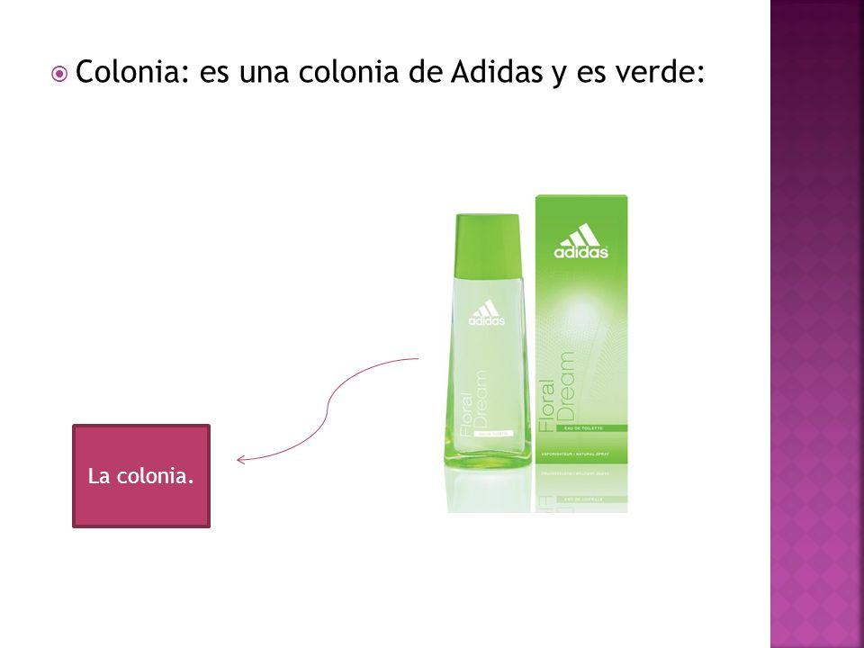 Colonia: es una colonia de Adidas y es verde:
