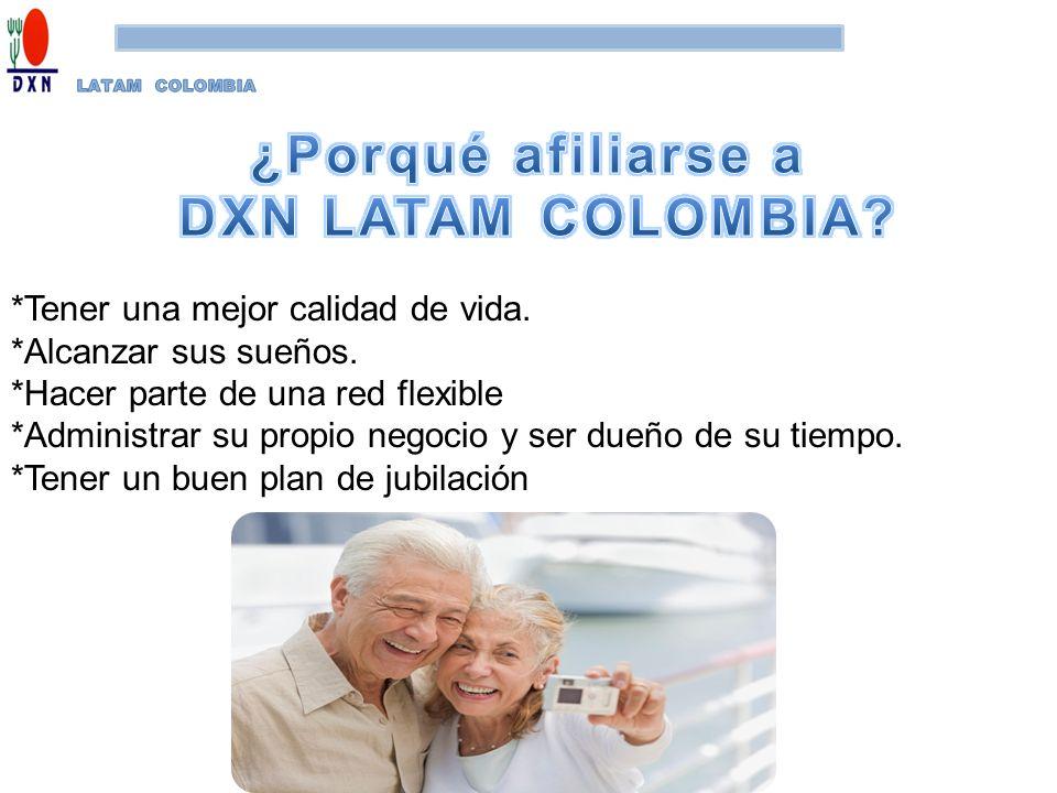 ¿Porqué afiliarse a DXN LATAM COLOMBIA